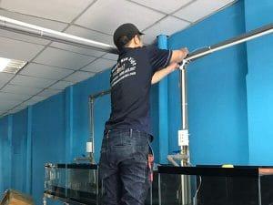 Lắp ổ cắm điện xưởng may