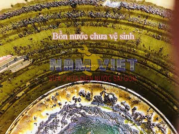 Vê sinh bồn nước tại quận Tân Phú