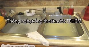 Thông tắc nghẹt lavabo, chậu rửa chén tại nhà TPHCM